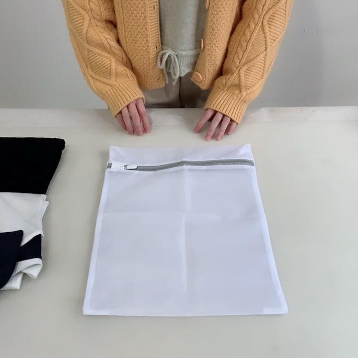 Toptan özel logo Fermuar Kullanımlık Yıkanabilir Naylon Polyester Net file çamaşır torbası Sutyen Çorap Elbise