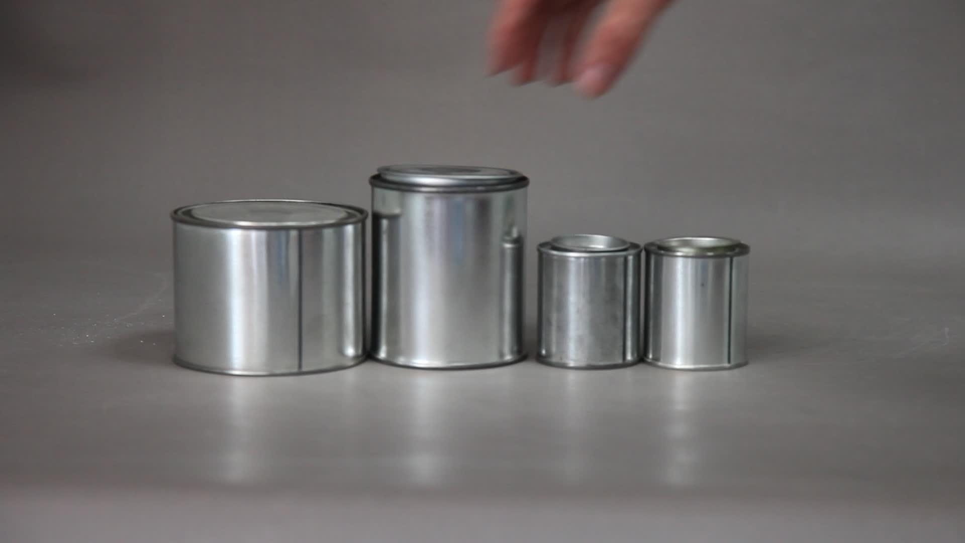 Commercio all'ingrosso di latta guarnizione di facile open end vuoto tonno lattine con pull tab