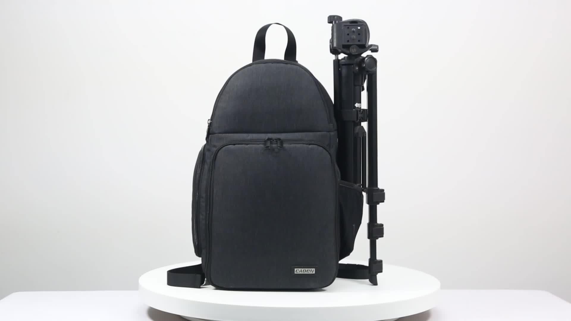 CADEN waterproof portable outdoor travel black detachable DSLR digital Camera Backpack bag