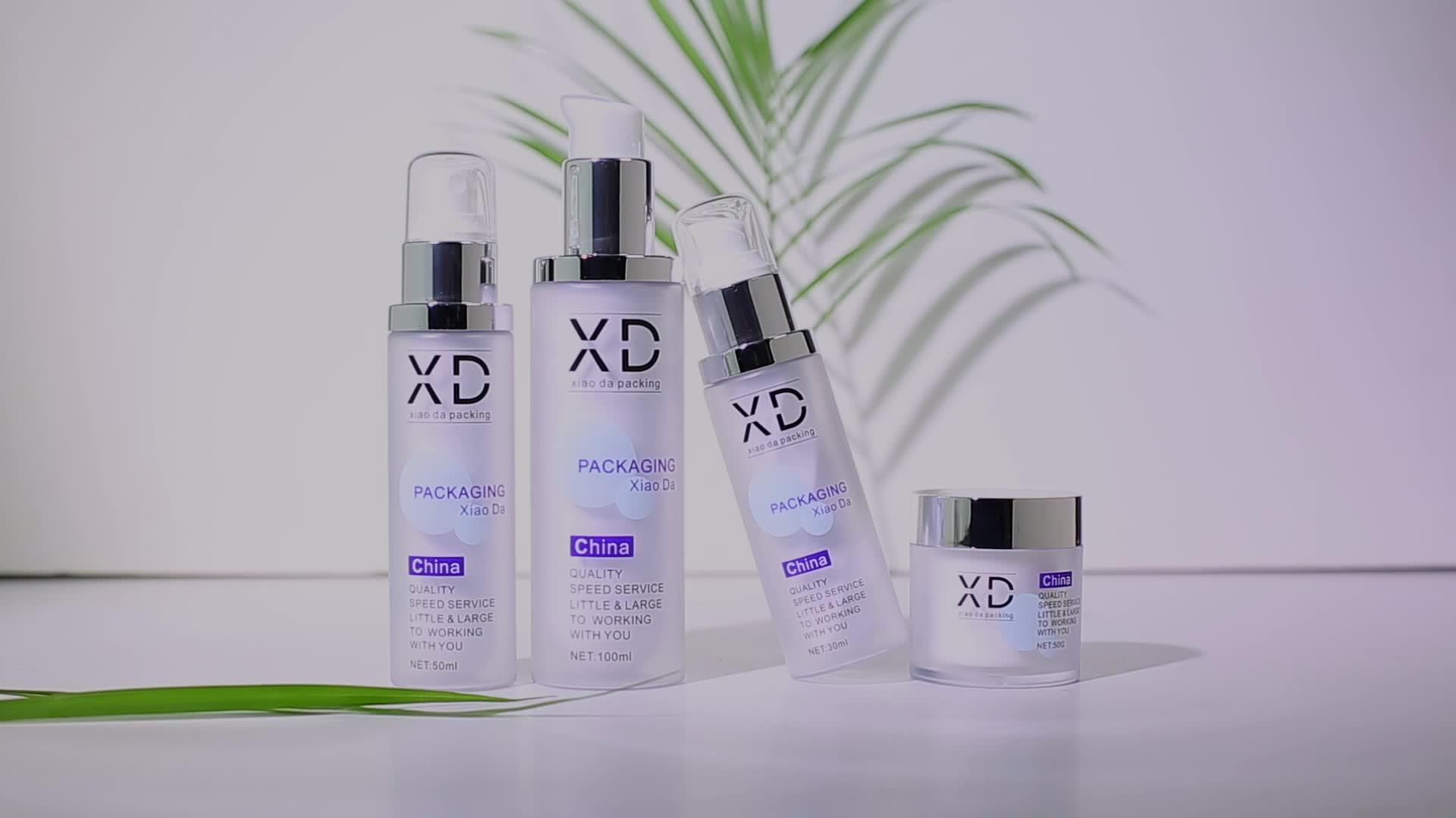 2019 Nouveau produit Chine fournisseur emballage cosmétique 100ml peau crème recycler en plastique vaporisateur bouteille cosmétique