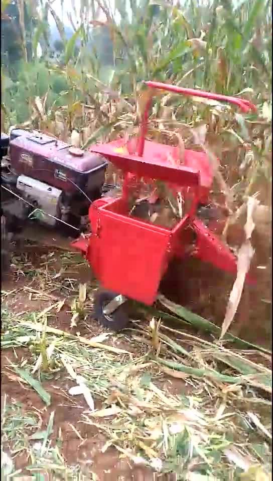 tarım küçük mısır biçerdöver mini benzinli motor mısır biçerdöver satışı