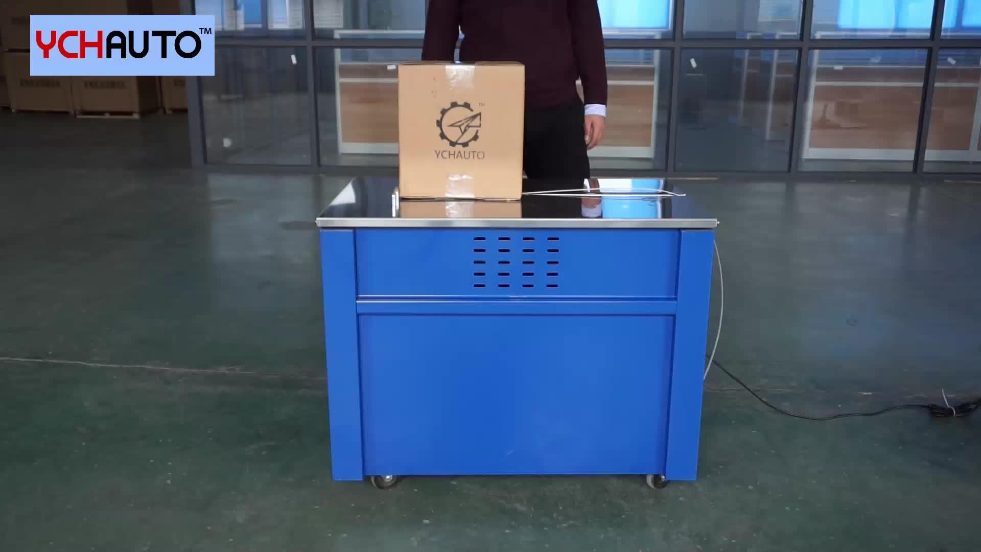 Otomatis mesin strapping strapping mesin meja tinggi