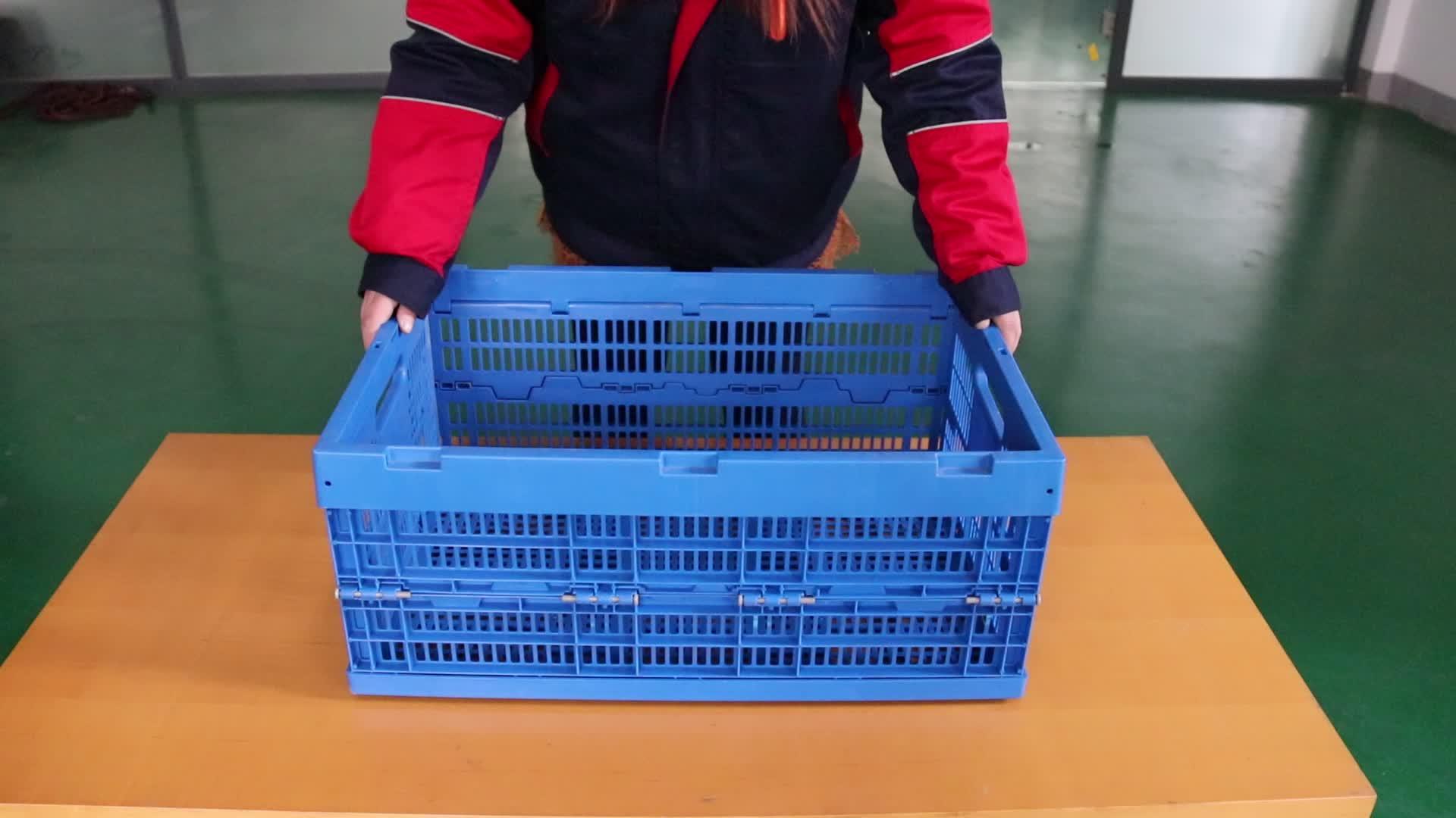 बिक्री के लिए सब्जी फल बक्से भंडारण टोकरा थोक ठोस जाल प्लास्टिक बॉक्स