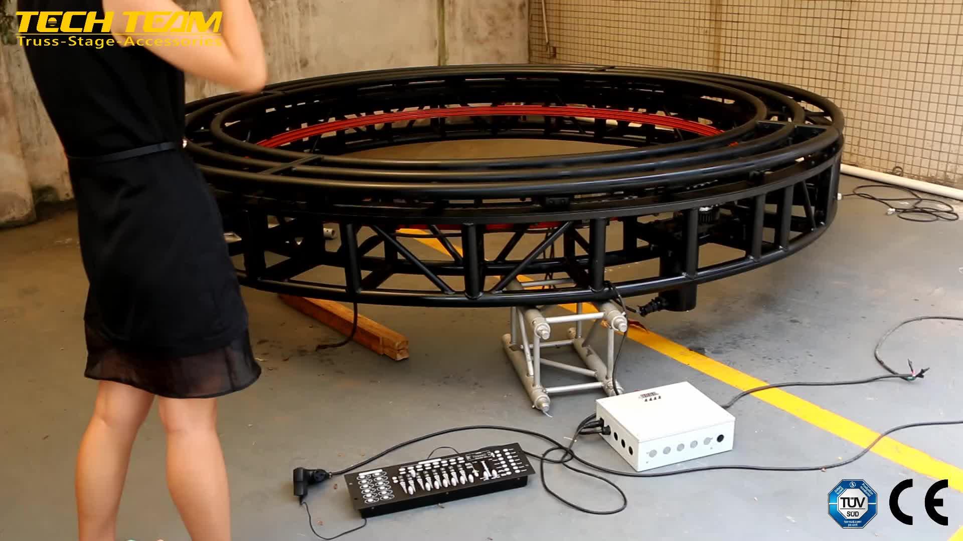 360 Degree Rotation New type Circular Rotating Lighting Truss