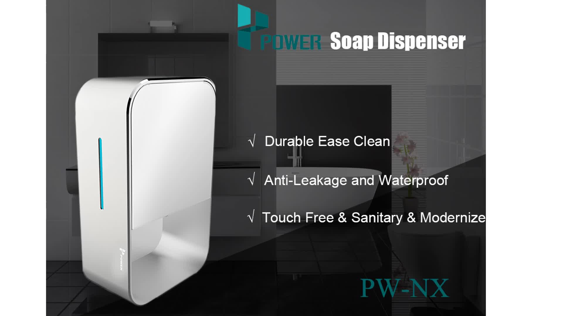 Aluminium alloy hand free sensor stainless steel electronic touchless automatic soap dispenser