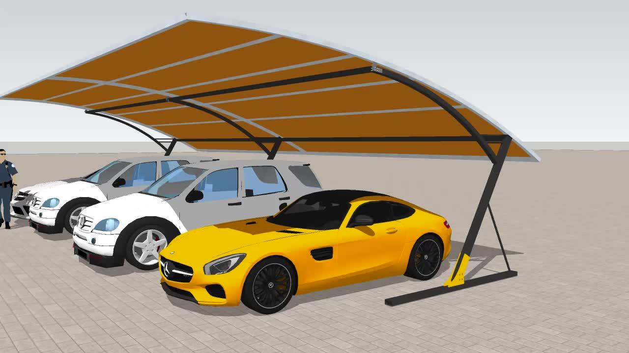 GSP-6 small easy up single slope pvc tarpaulin carport