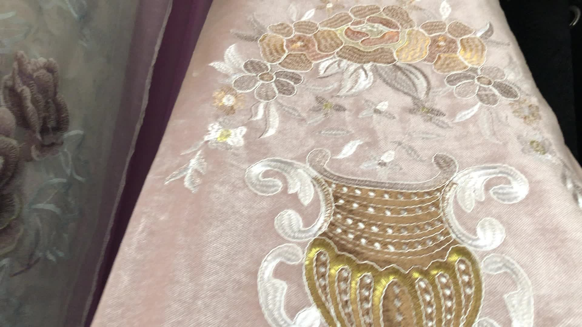 Direct Factory Wholesale Custom-made Living Room Embroidered Luxury European Curtain
