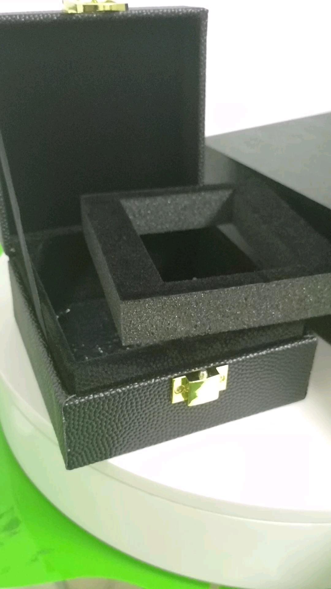 benutzerdefinierte Luxus PU Leder Kaviar Geschenkverpackung