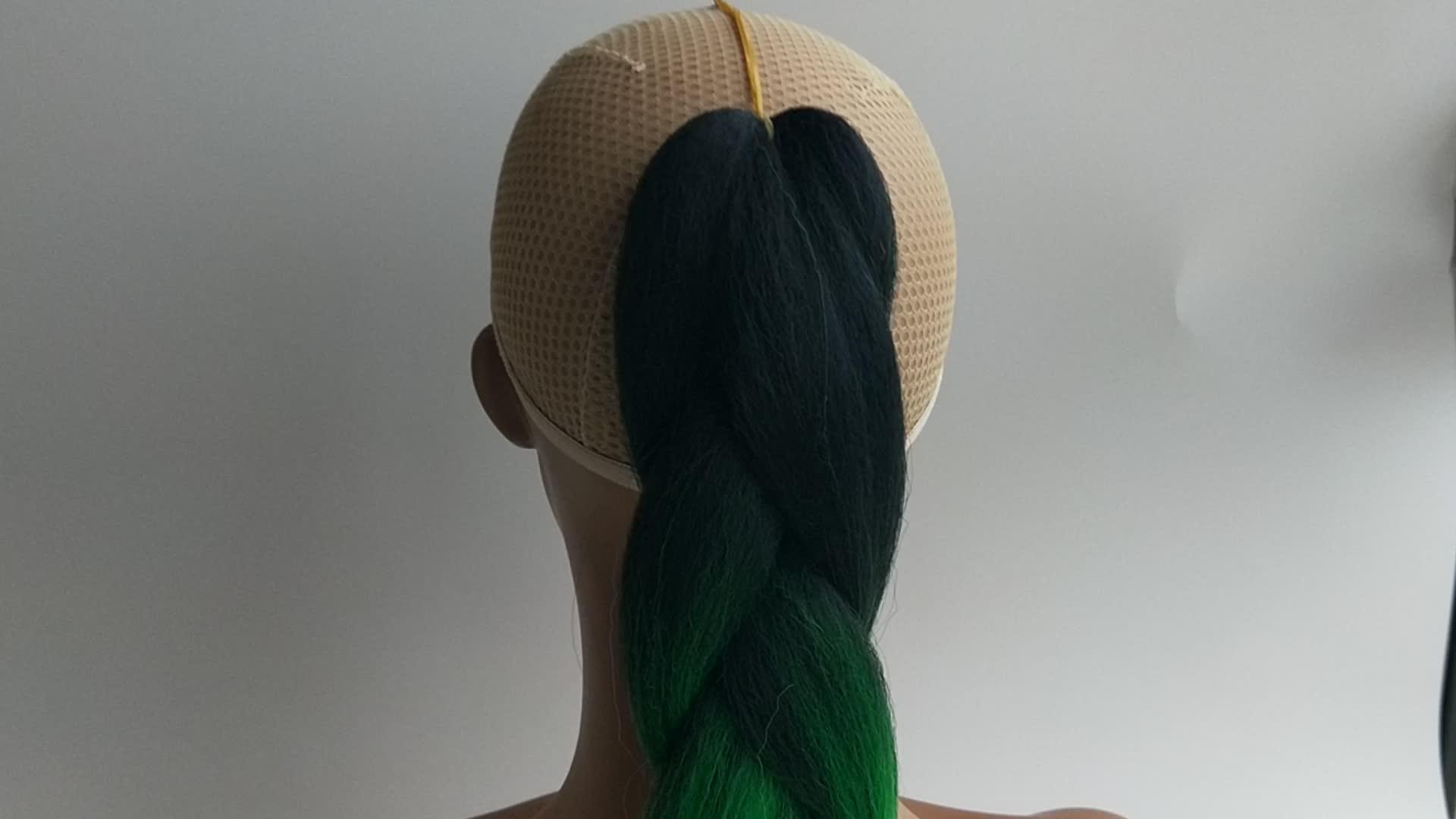 """ขายส่งสต็อก Pervado Pure สีผม 24 """"100g สังเคราะห์จัมโบ้ Braiding ผมเซเนกัล Twist กล่องโครเชต์ braids"""