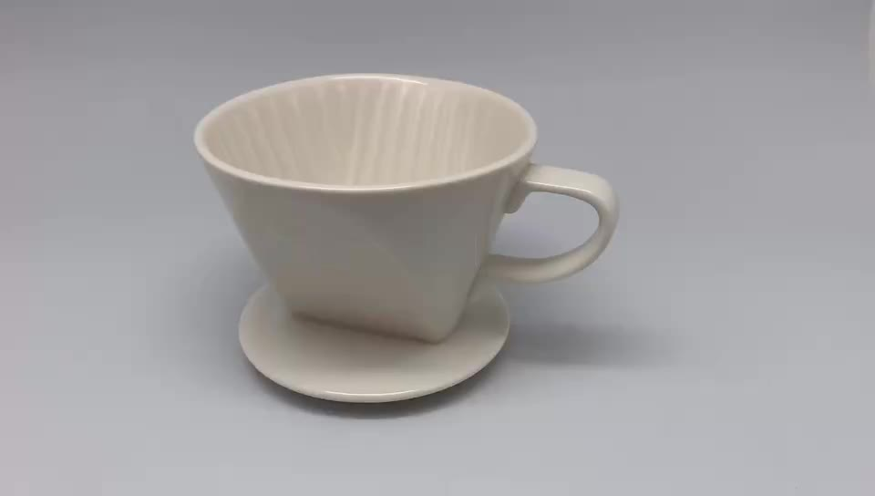 Ceramic Coffee Dripper V60 Style Coffee Drip Filter Cup Coffee Filter Pour Over Dripper Convenient