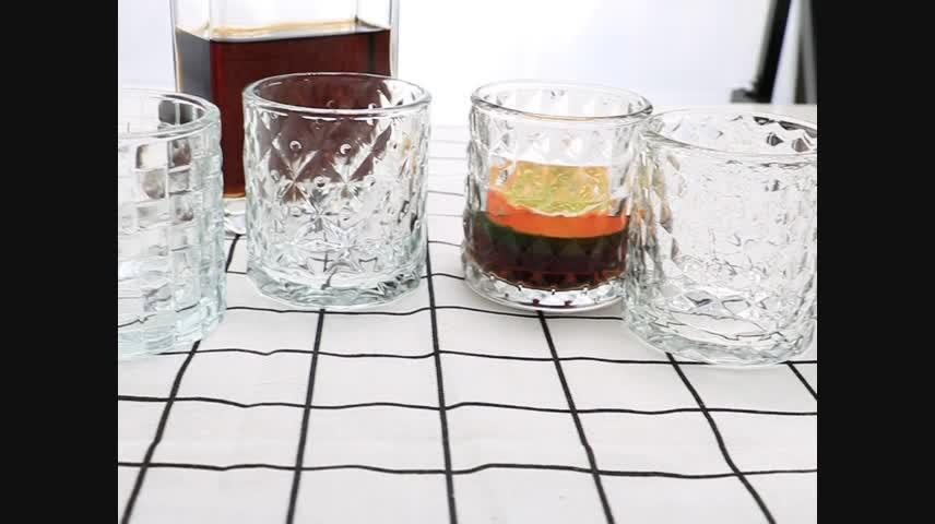 고품질 100% 무연 클리어 위스키 유리 크리스탈 와인 안경