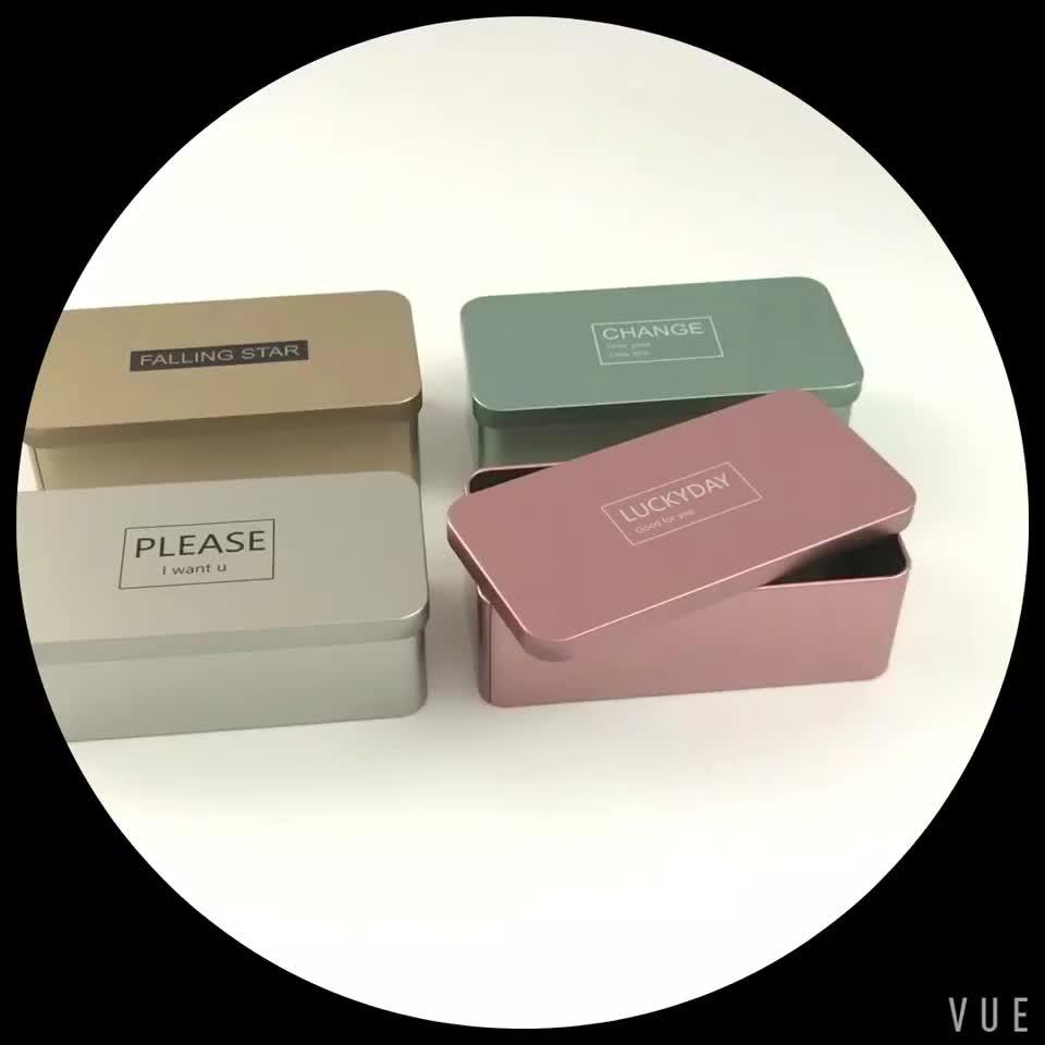 사용자 정의 작은 다채로운 포장 크리스마스 음식 선물 주석 상자