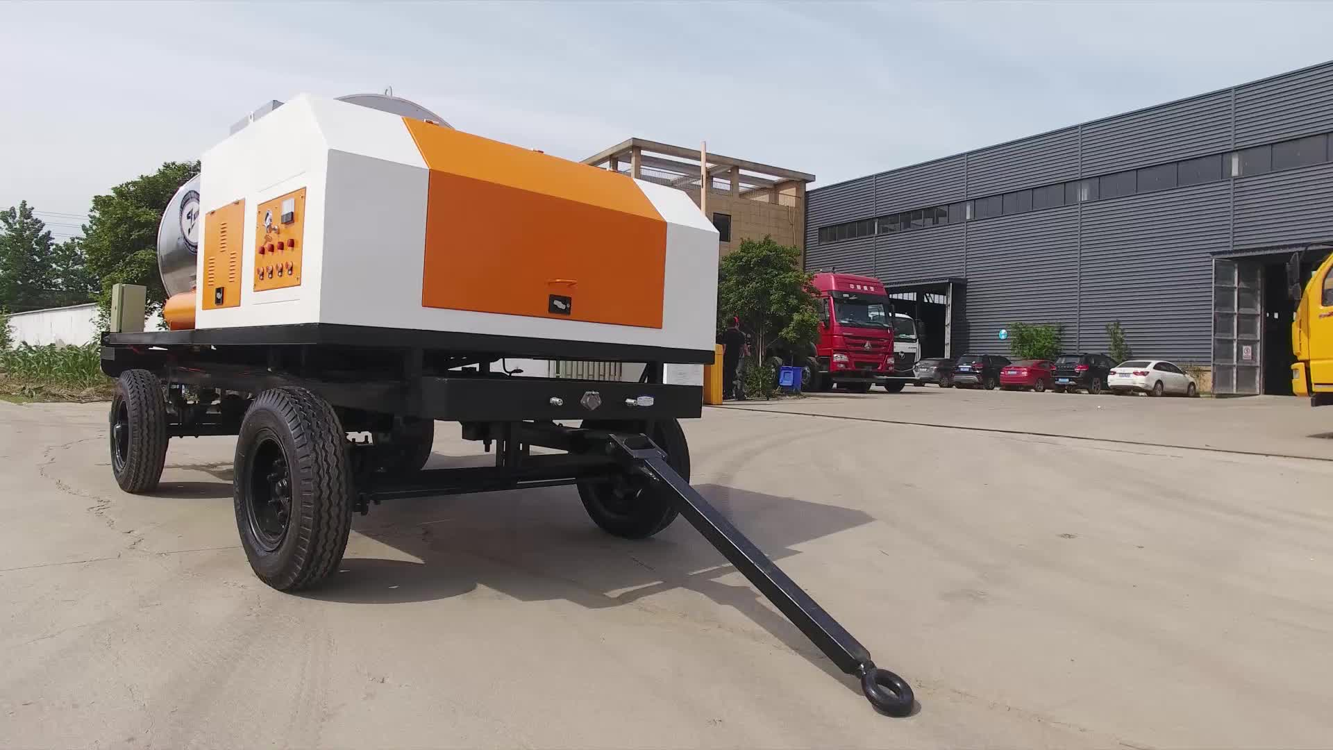 road machinery trailer asphalt distributor sprayer for sell