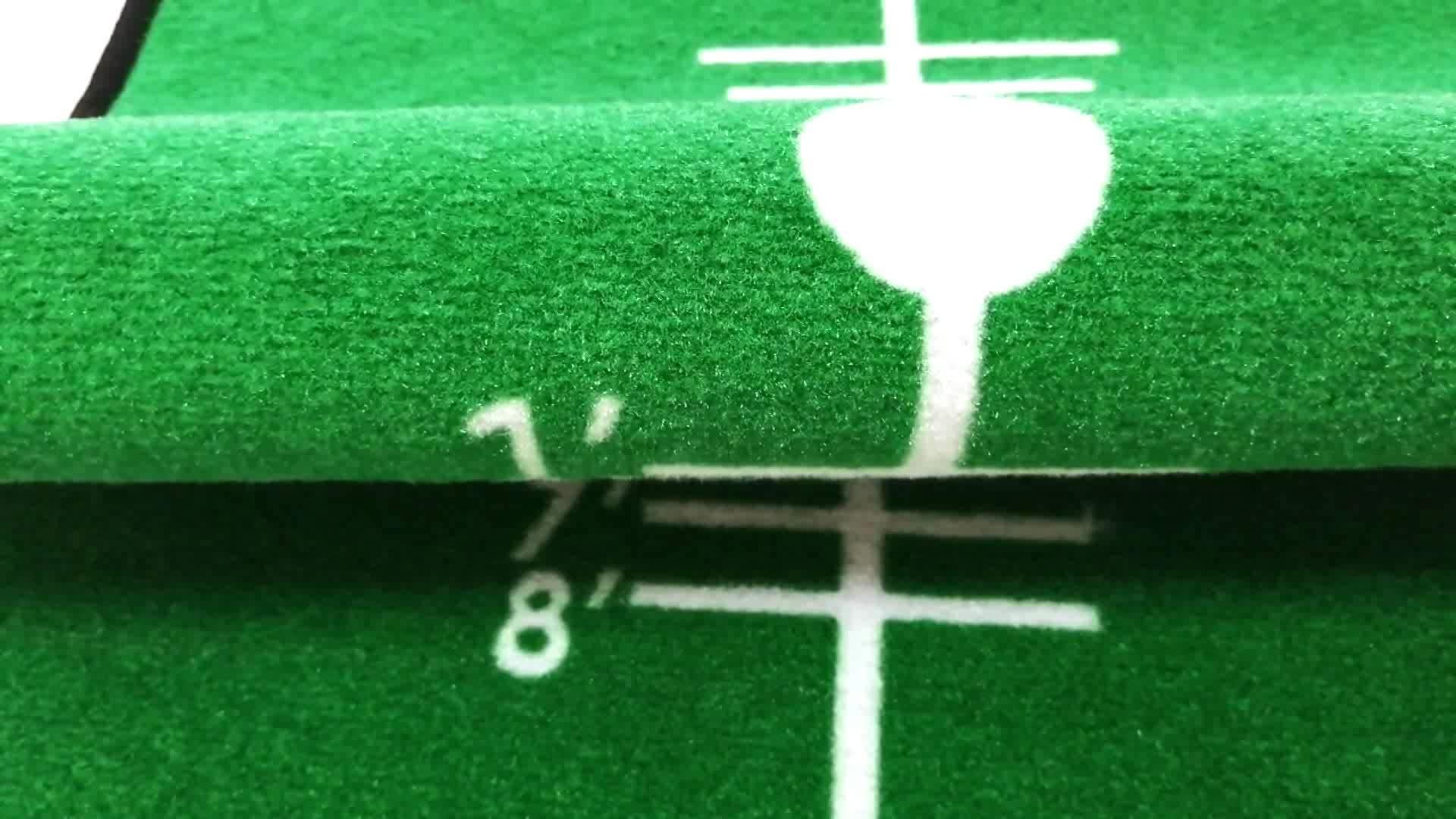 Design personalizado de Treinamento de Prática de Golfe Putting Mat
