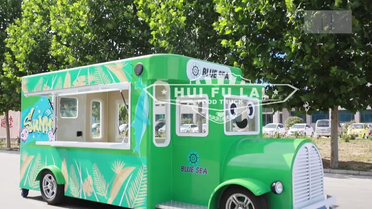 Caminhão móvel de carrinho de comida de cozinha ao ar livre/multi-funcional para churrasco caminhão de comida