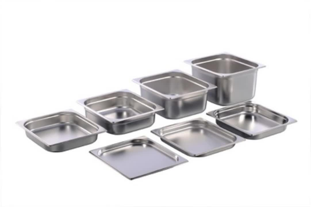 Buffetware stainless steel food tray GN pan gastronorm pan with handle