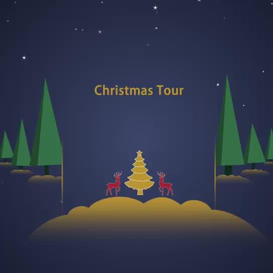 Holiday gift decoration Christmas tree music silicone night light
