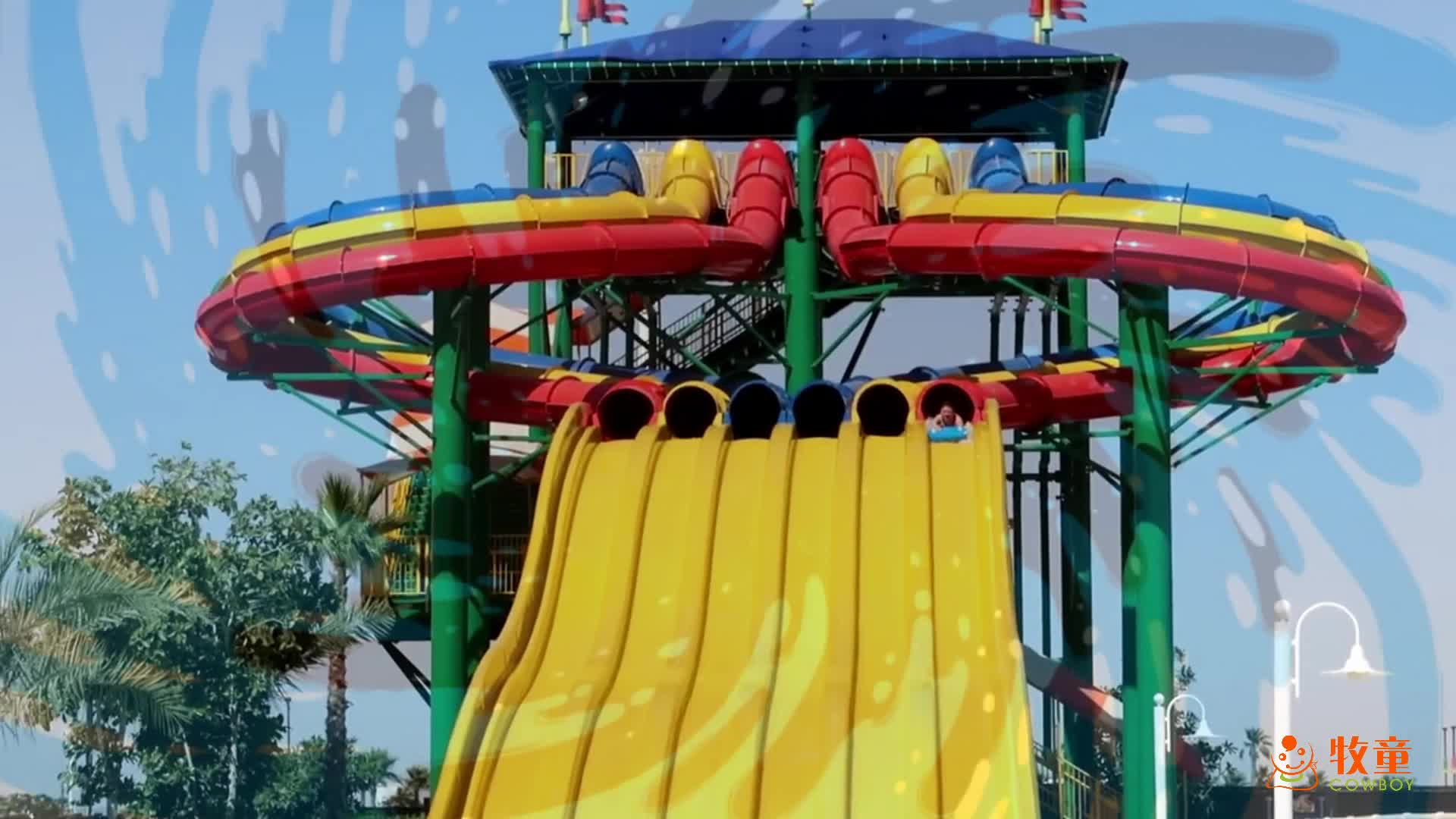 Six lane colorful used swimming pools long rainbow water - Used swimming pool slides for sale ...
