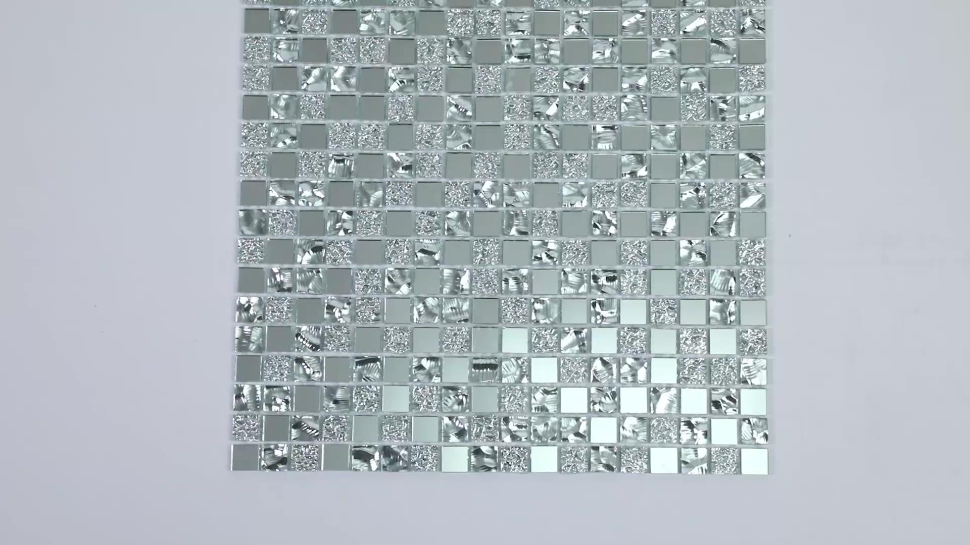 Kim Cương Vuông Antique Gương Pha Lê Gạch Mosaic Thủy Tinh Cho Tường Nhà Bếp