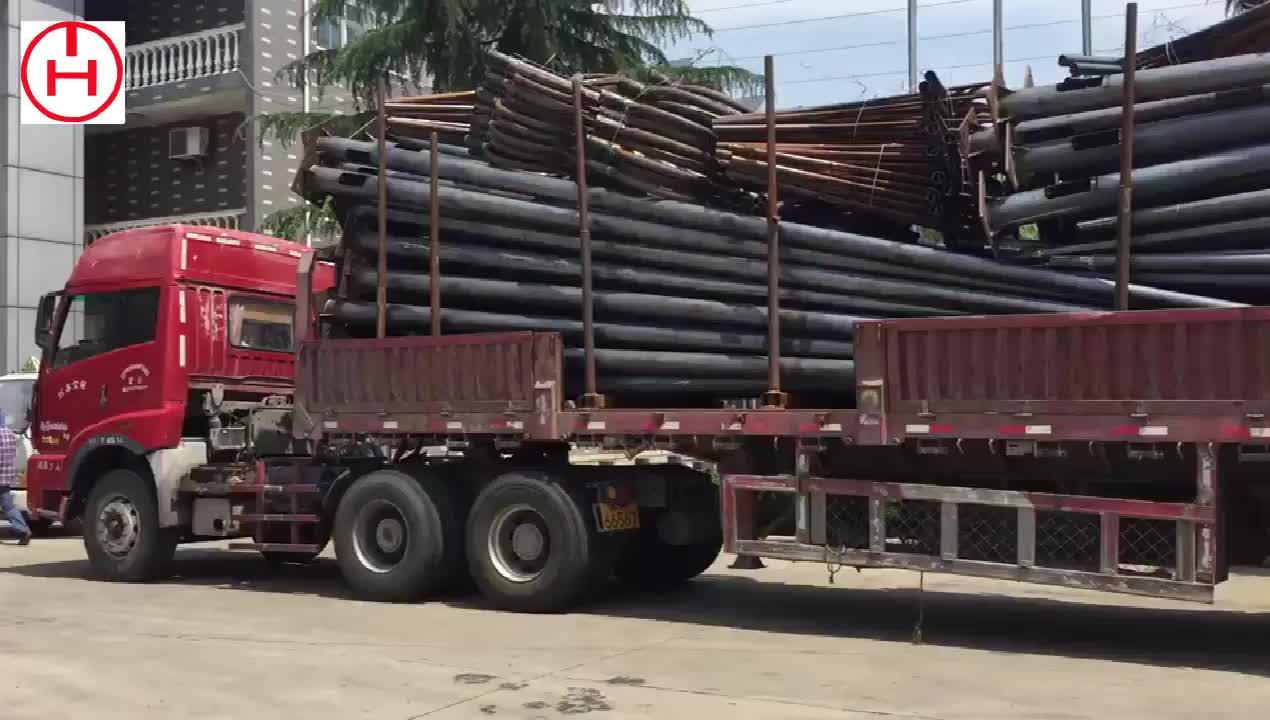 Galvanis 6 M Tiang Penerangan Jalan Umum untuk Lampu Jalan Diterapkan untuk Square