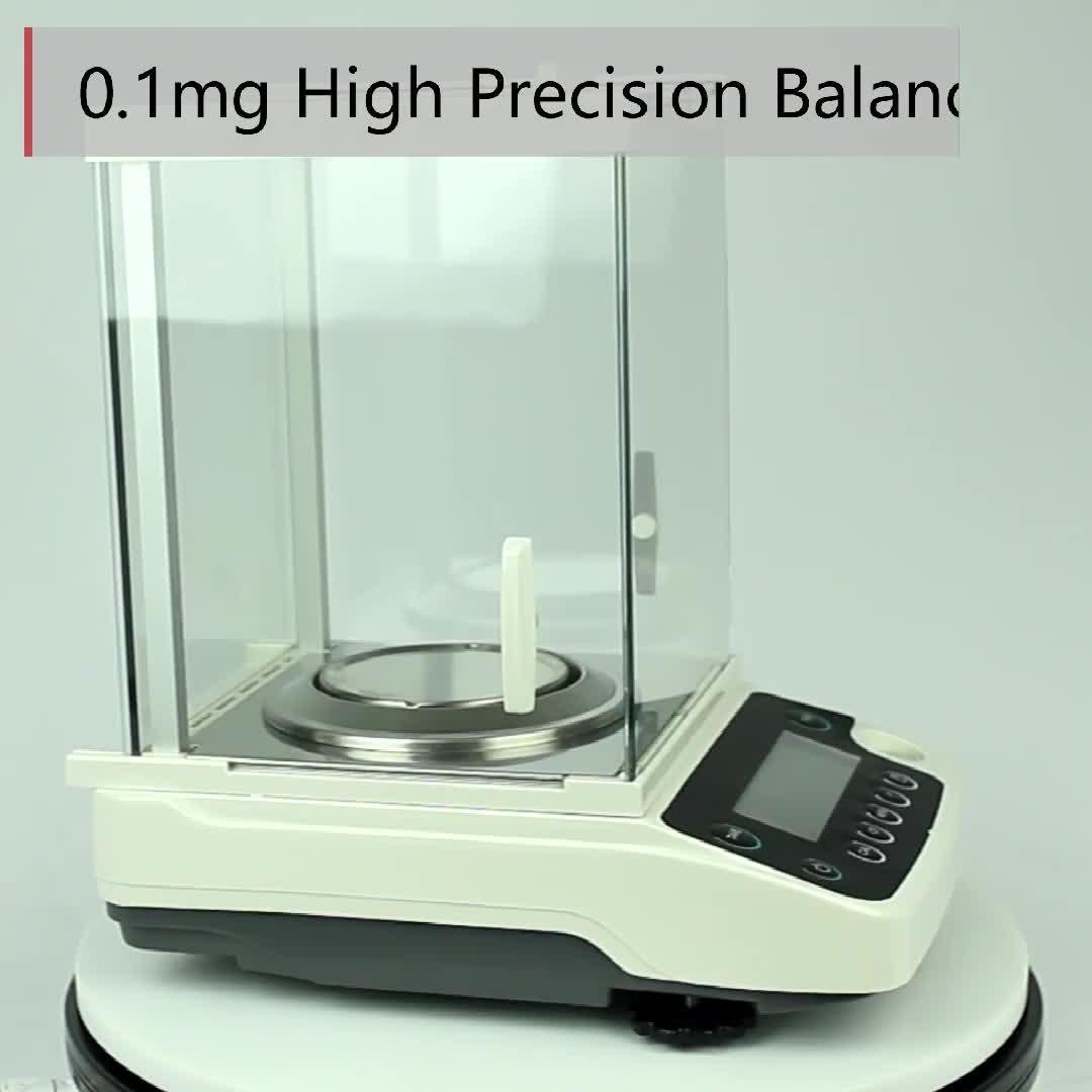 Высокая точность 220 г 0,001 г Внешняя калибровка аналитические весы для лаборатории/взвешивания ювелирных изделий