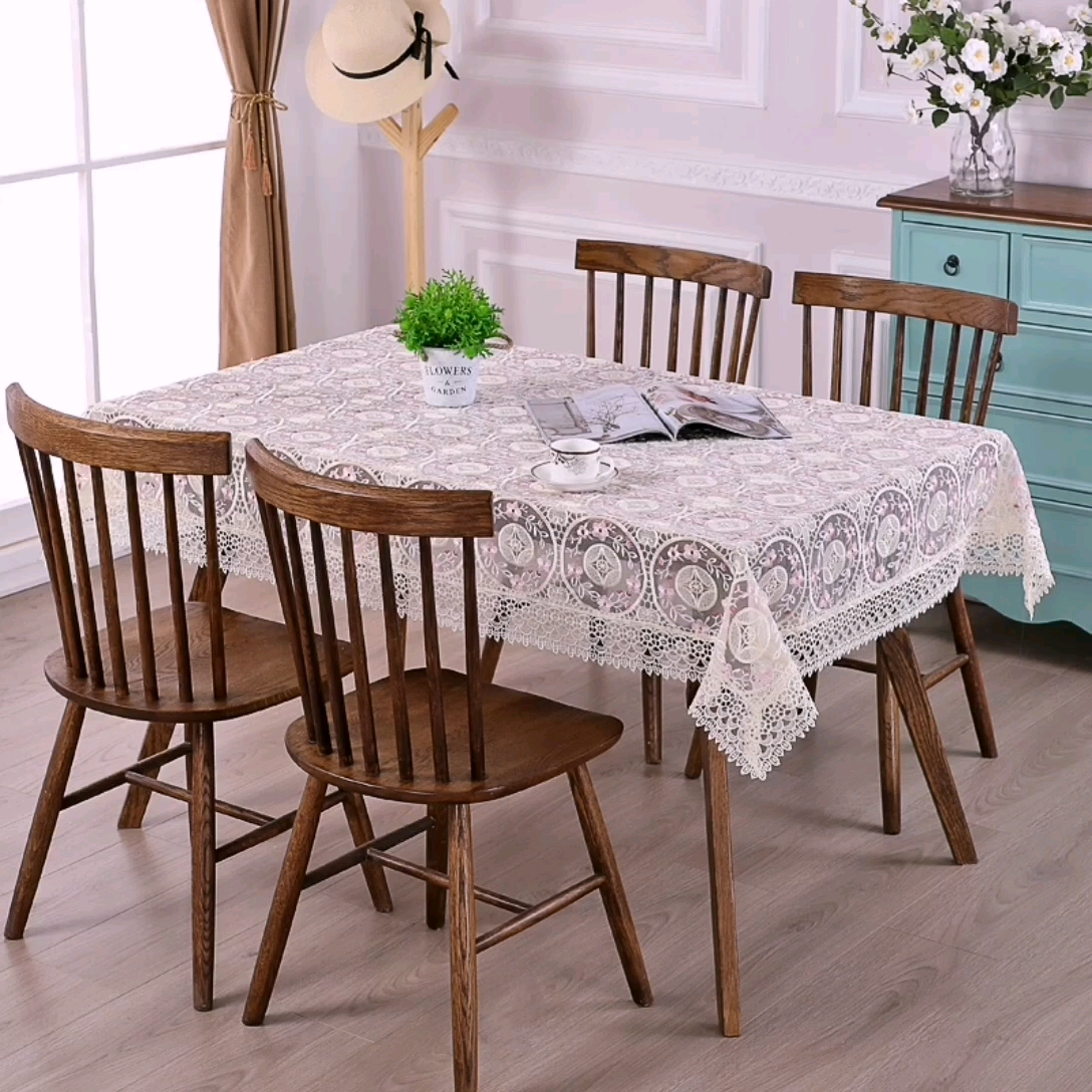 Wholesale european-style luxury Organza embroidered lace table cloth for  conditioning television