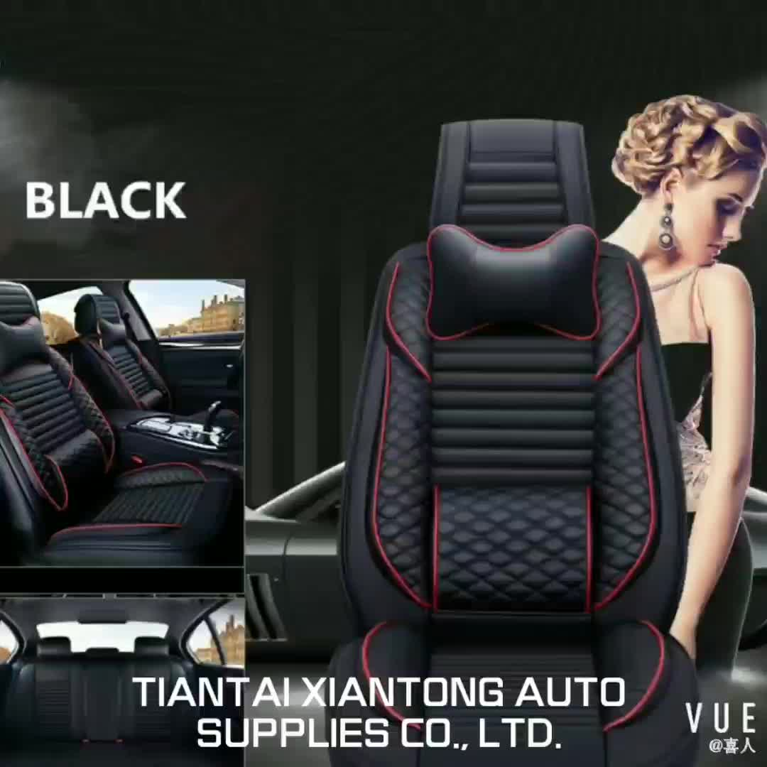 Universal size 5 Pcs Durable genuine Leather Car Seat Cover