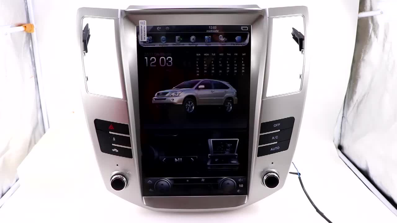 Android 8.1 PX6 12.1'' Car DVD Player Car Video GPS Navigation For Lexus RX RX300 RX350 2004-2007 Wifi Car Play