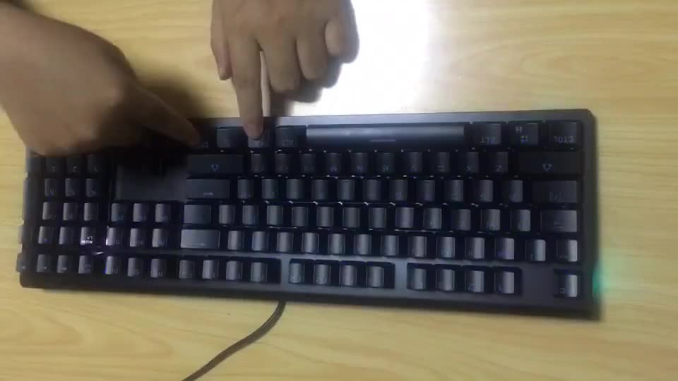 High quality mechanical keyboard with rgb lights
