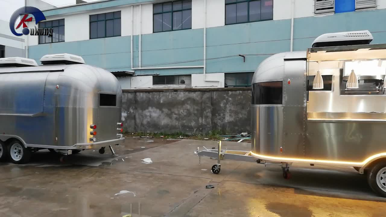 UKUNG Self-developed new Airstream model AST-210, street side snack trailer, hot dog truck