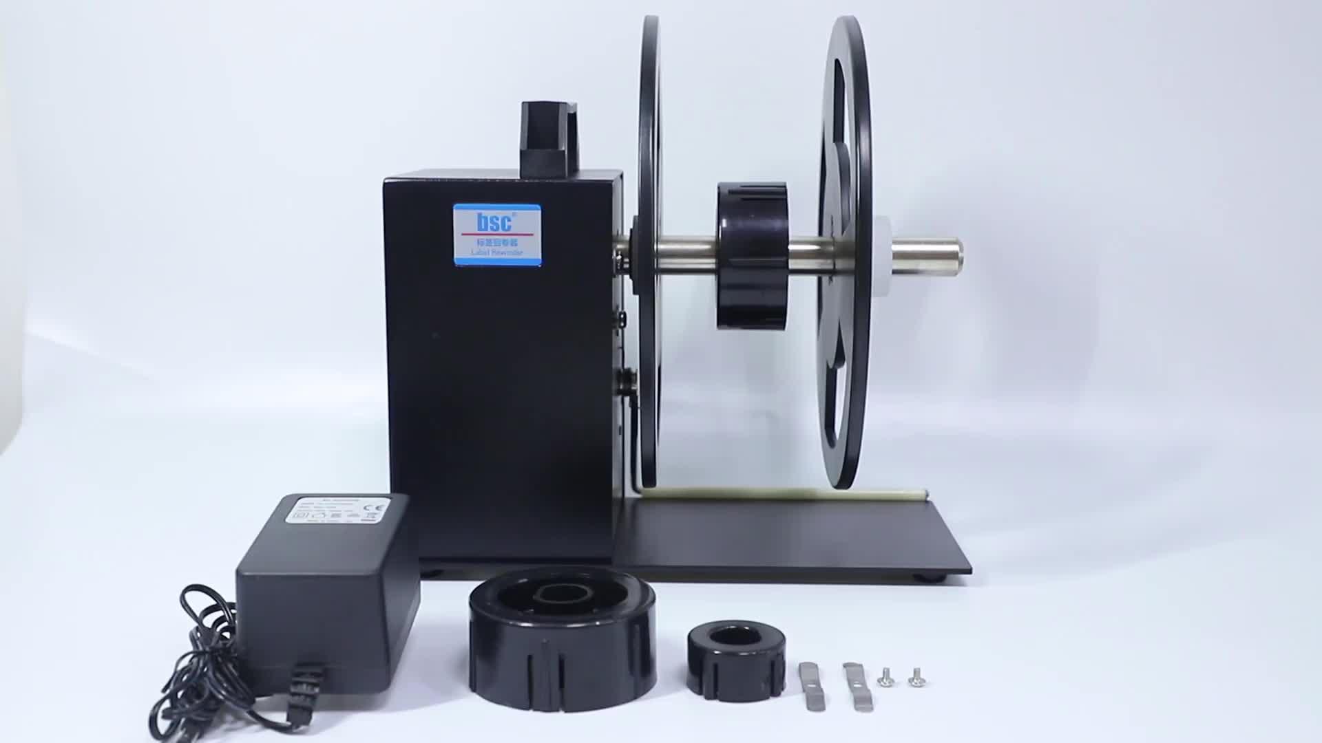 Venda quente Elétrica Etiqueta Rebobinamento Velocidade Controlada-Função Muti máquina rótulo