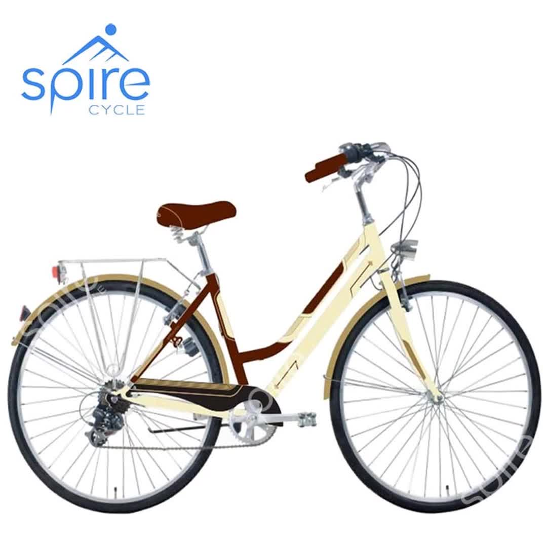 Hot selling 28 inch 6 speed bruin stad fiets
