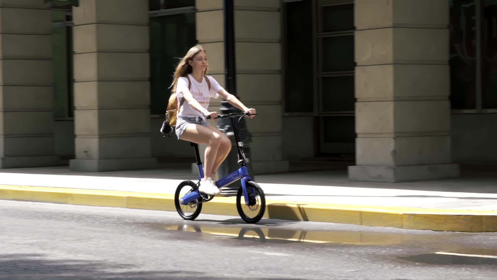 """2020ใหม่แฟชั่นอลูมิเนียมอัลลอยด์16 """"แสงถนนจักรยานพับจักรยานผู้หญิงพับจักรยานขนาดเล็ก"""