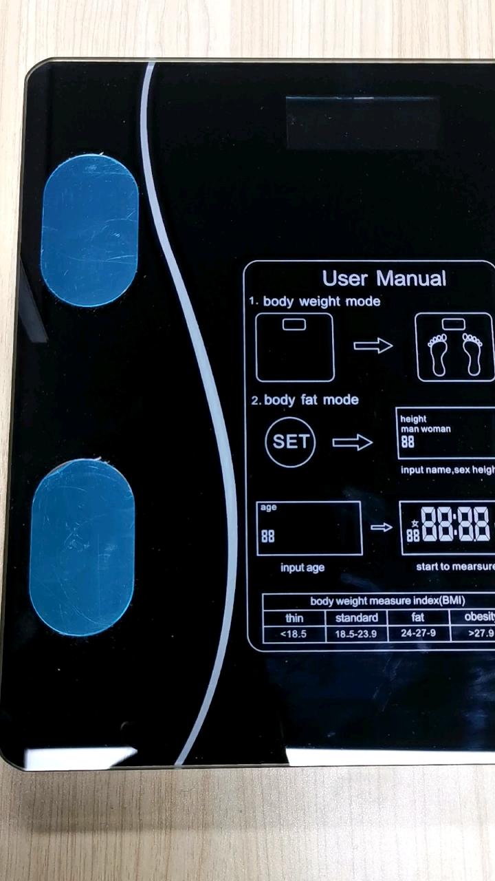 USB Isi Ulang Tubuh Lemak Skala Berat Skala Rumah Tangga Mengukur Bluetooth Elektronik Skala