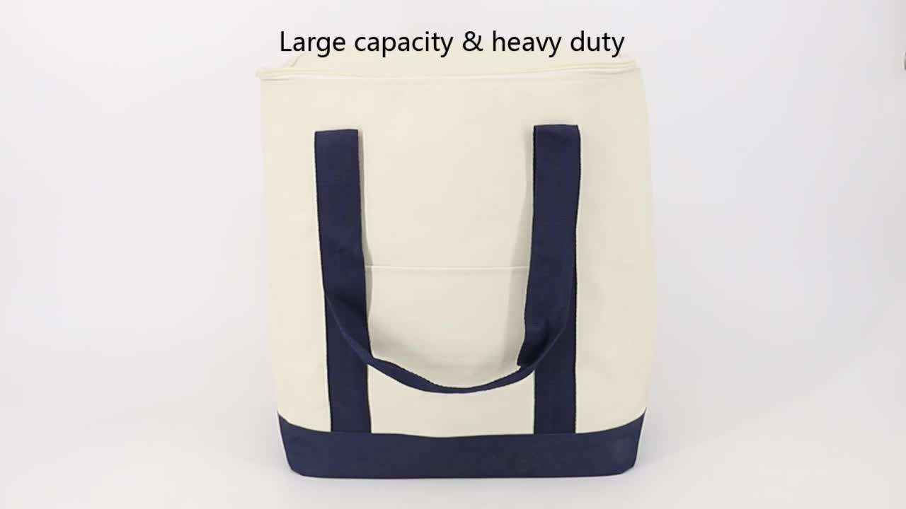 China Supplier OEM Logo Printing Polyester Supermarket Grocery Insulated Bag For Frozen Food
