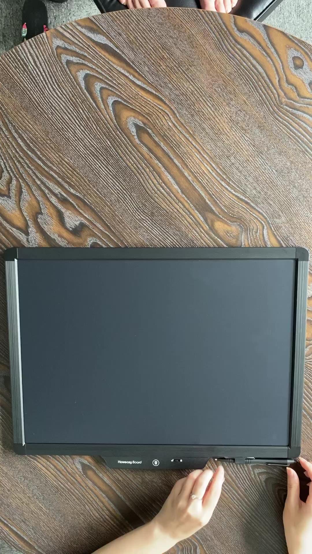 Howeasy fabrika kağıtsız lcd yazma tableti çizim çocuklar elektronik çizim tableti 20 inç lcd yazı tahtası