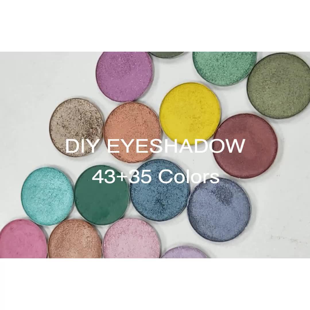 Professionele neon kleur hoge pigment geen merk eyeshadow lege private label 12 pan oogschaduw palet