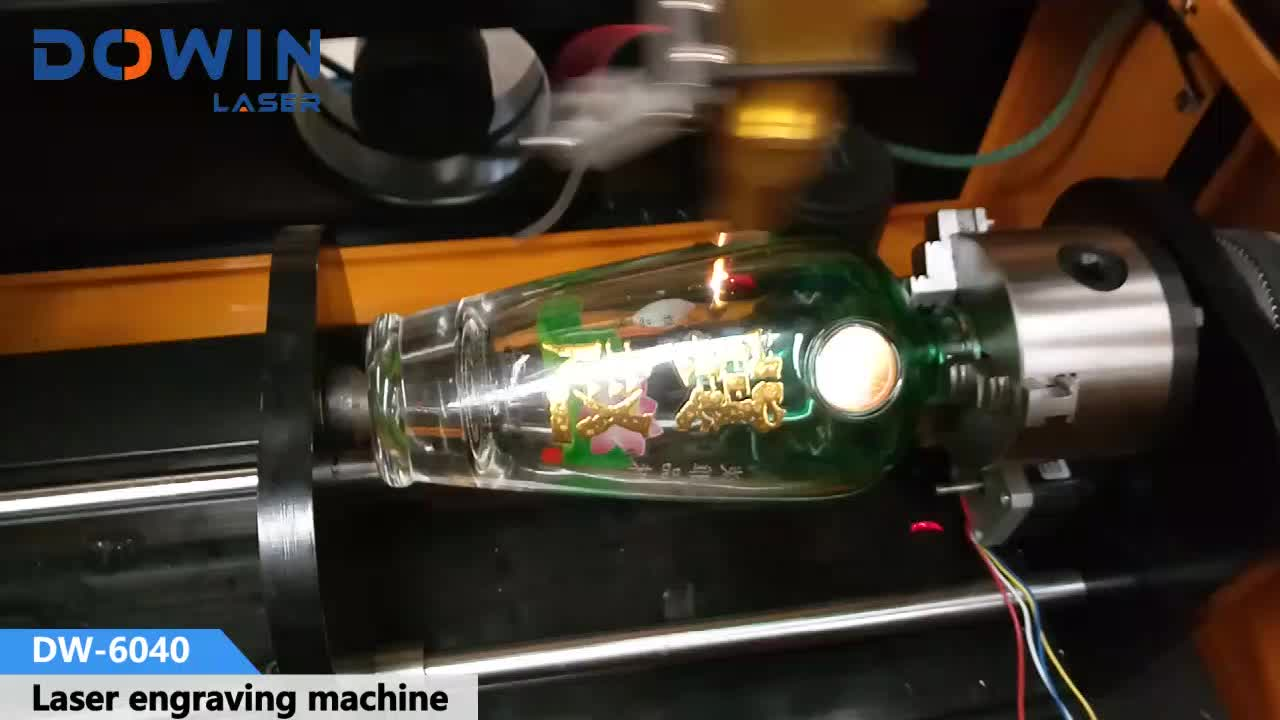 40W 50W diy glass cup laser engraving machine on round objects