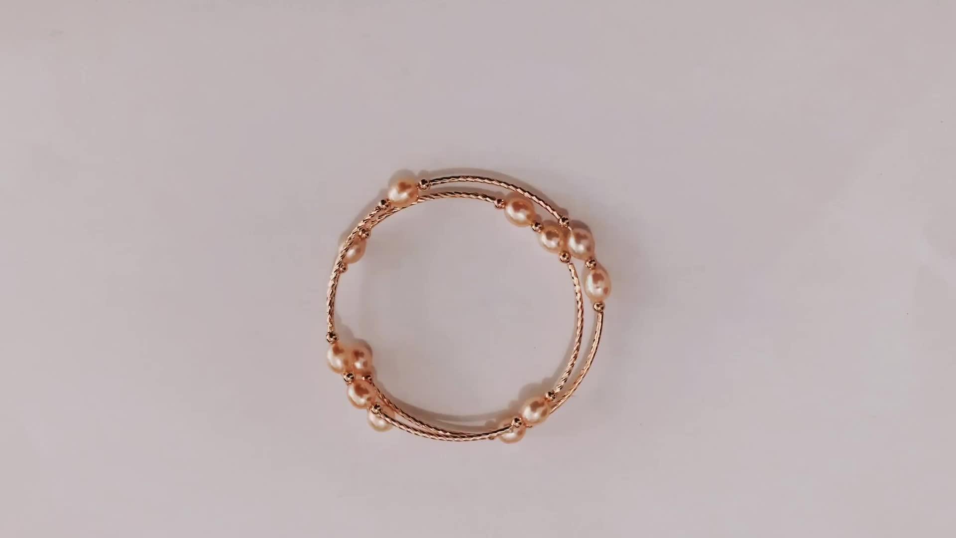 New fashion freshwater pearl bangles bracelet for women