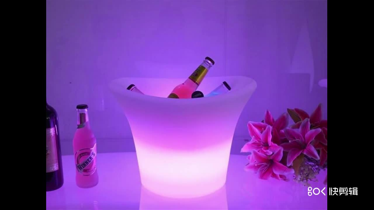 Clear BPA free Champagne Acrylic Oval Plastic ice bucket