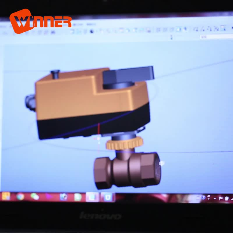 electric AC24V DN32 DN50 fast motorized ball valve forged brass ball valve