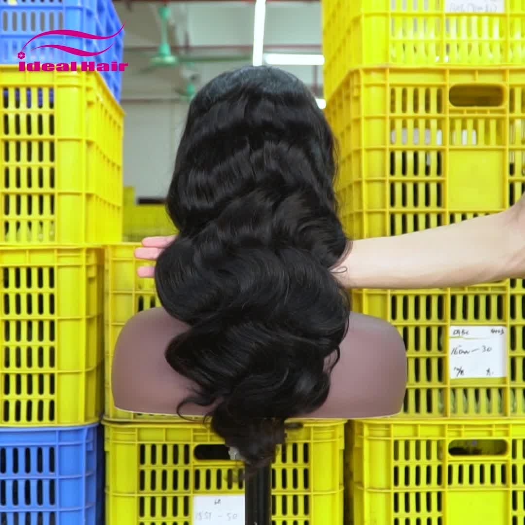 Wig Depan Rambut Manusia 28 Inci Renda, Wig Rambut Manusia Pirang Renda Depan Rambut Manusia, Wig Renda Depan Merah Muda 9a Berenda