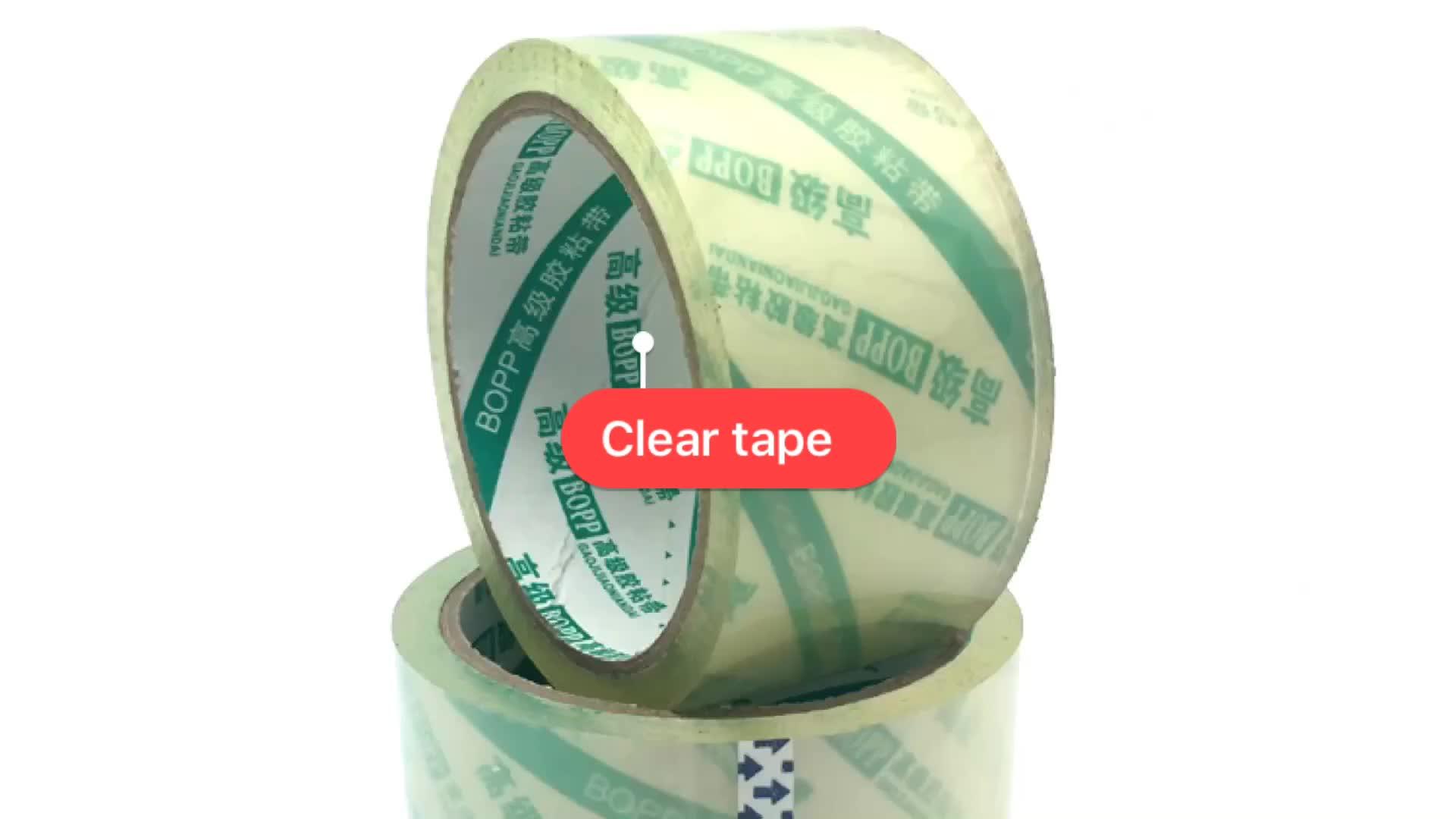 Bopp adhesivo transparente cinta de embalaje transparente engomado cinta para el sellado de cajas de cartón