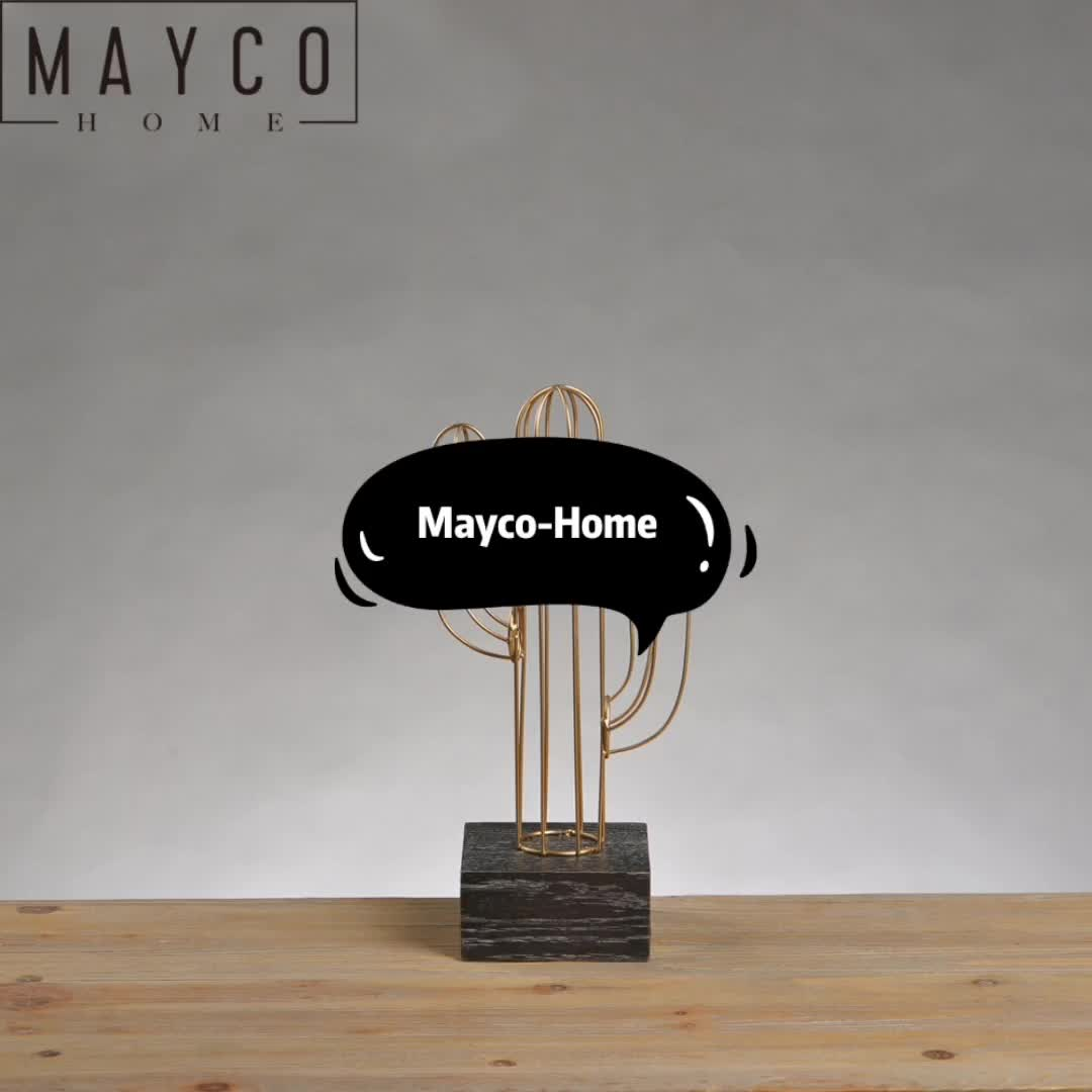 Mayco Wholesale Metal Acrylic Gold Color Home Art Decoration