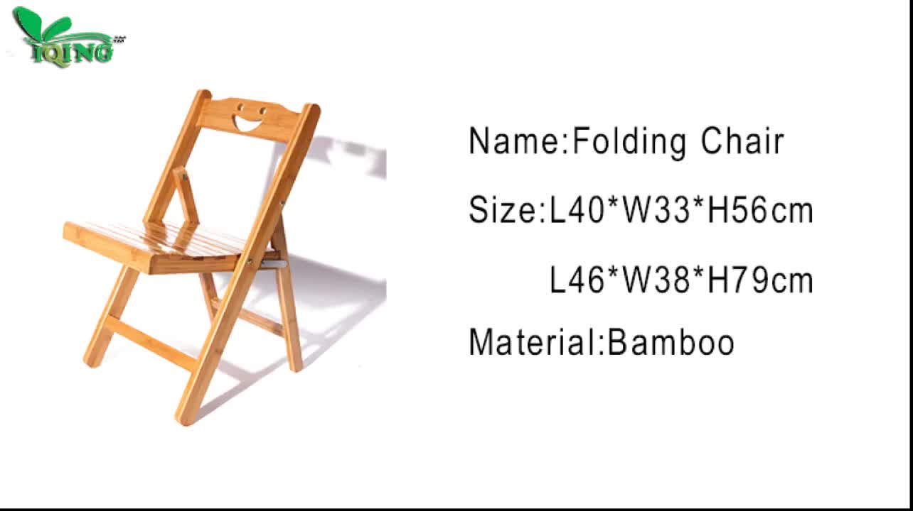 Hot sale new design small and cheap bamboo folding chair
