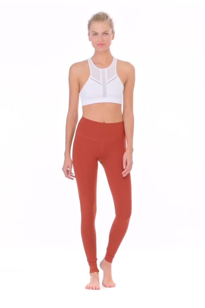 Großhandel Rot Custom Design Hohe Qualität Taille Frauen Sport Yoga Hosen Mit Telefon Taschen
