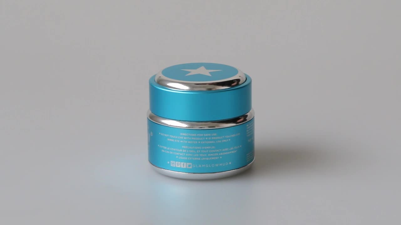 round aluminum UV gel cosmetic jar 10 g