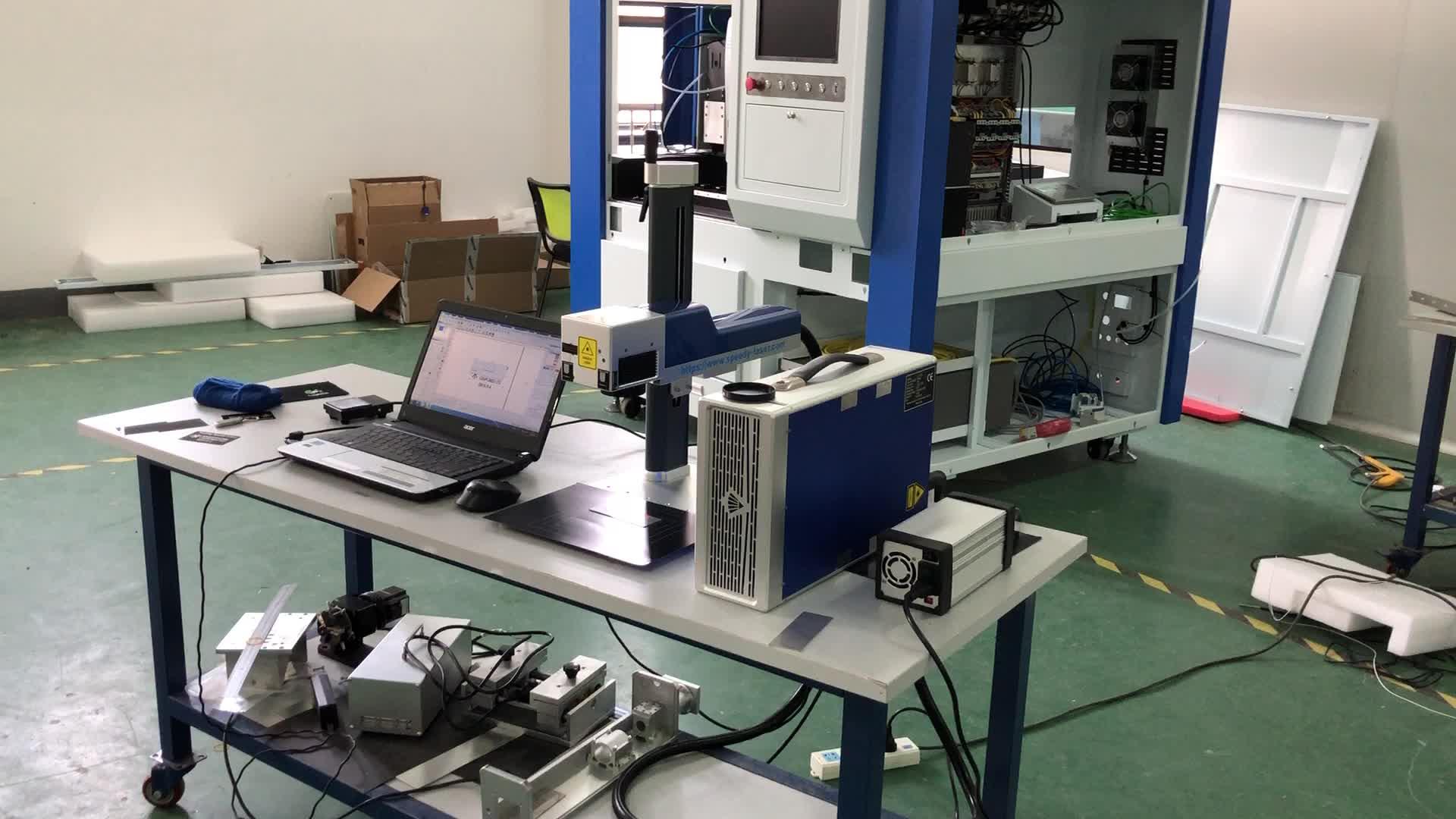 2019 ad alta velocità galvo scanner EZCAD 20W 30W 50W fibra laser di marcatura macchina
