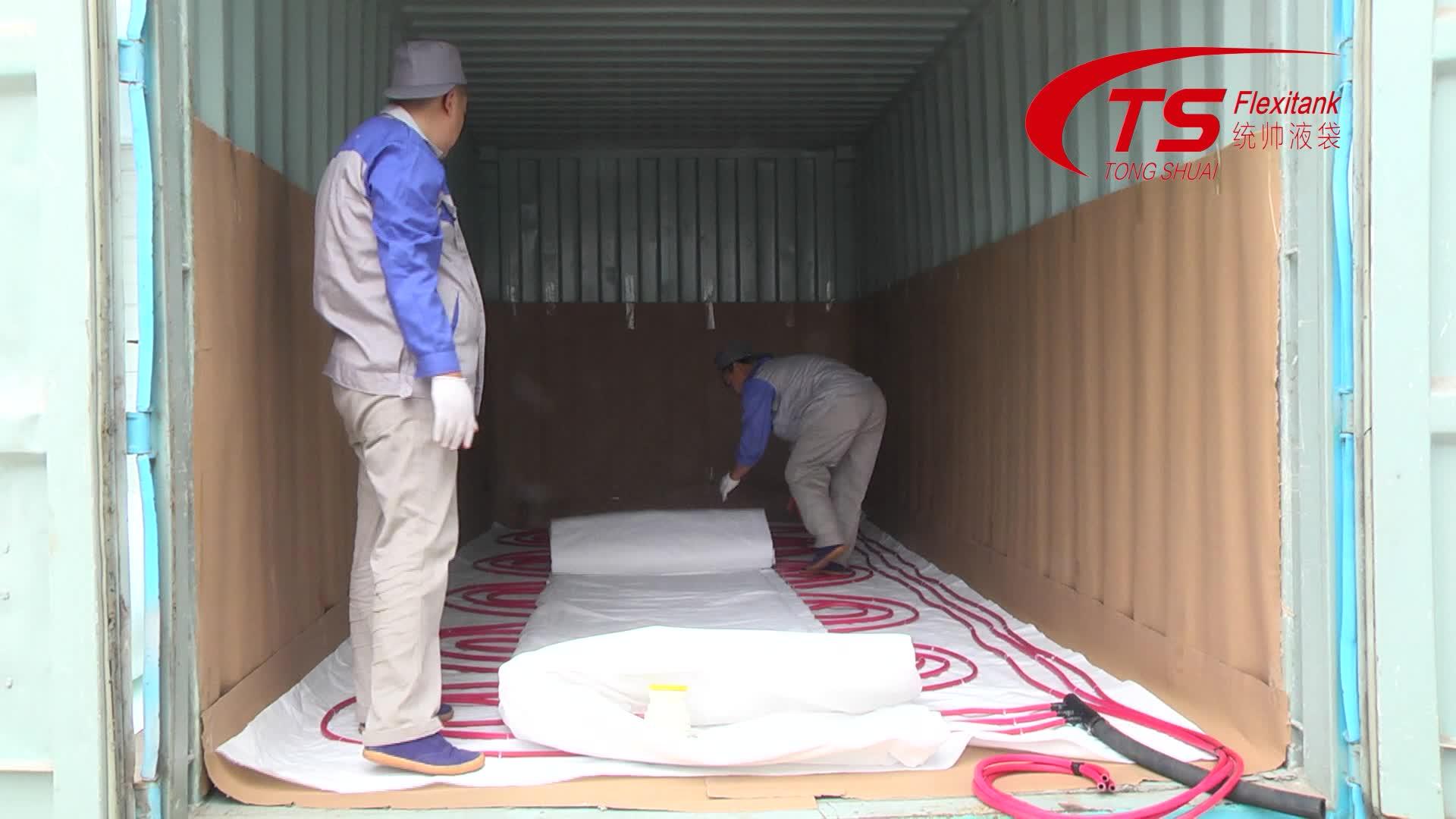 Olio vegetale Flexitank In Container di Trasporto Tongshuai Greggio Olio Spedito borsa Flexi