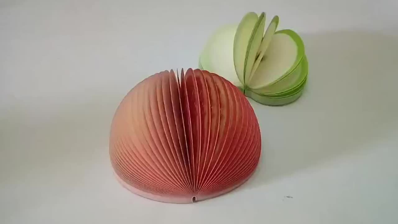 Creative 3 D Apple Vegetable and Fruit Sticky Note Book N Times Student White-collar High Quality Fruit Shaped Sticky Note